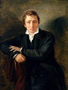 """Heinrich Heine"""" von Moritz Daniel Oppenheim - allposters.com. Lizenziert unter Gemeinfrei über Wikimedia Commons -"""