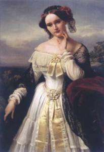 Mathilde Wesendonck, Gemälde von Karl Ferdinand Sohn, 1850, StadtMuseum Bonn (als Leihgabe im LVR Rheinisches Landesmuseum Bonn)
